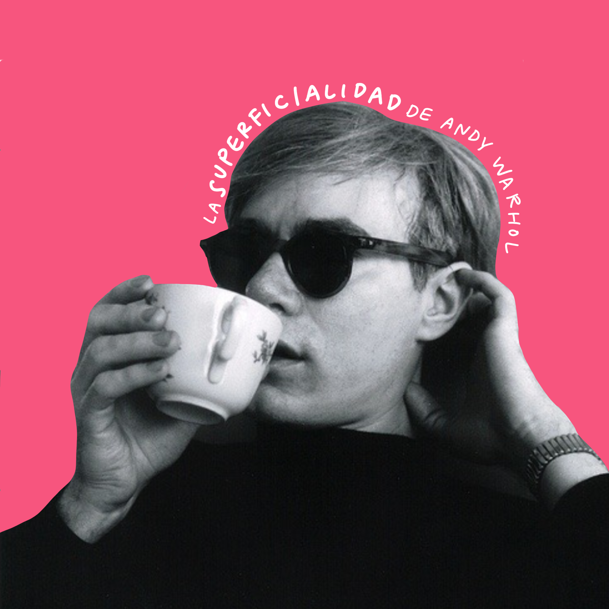 Andy Warhol sipping tea